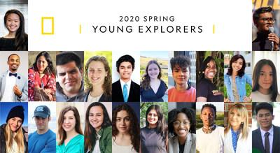 The National Geographic Society announces their spring 2020 Young Explorers. 22 young leaders from around the world receive funding to address climate change, single-use plastic pollution, the COVID-19 pandemic and other global challenges.