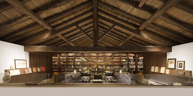 The Library of the Past at France's Domaine des Etangs.
