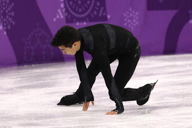 <p>in the Figure Skating Team Event – Men's Single Skating Short Program during the PyeongChang 2018 Winter Olympic Games at Gangneung Ice Arena on February 9, 2018 in Gangneung, South Korea. </p>