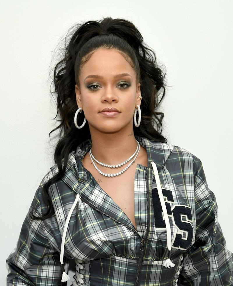 Hosting a pep rally to celebrate the launch of the AW17 FENTY PUMA by Rihanna collection at Bloomingdales on 59th Street on Oct. 13, 2017, in New York City.