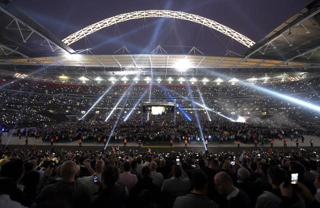 A sell-out crowd attended Froch's rematch with rival Groves at Wembley Stadium