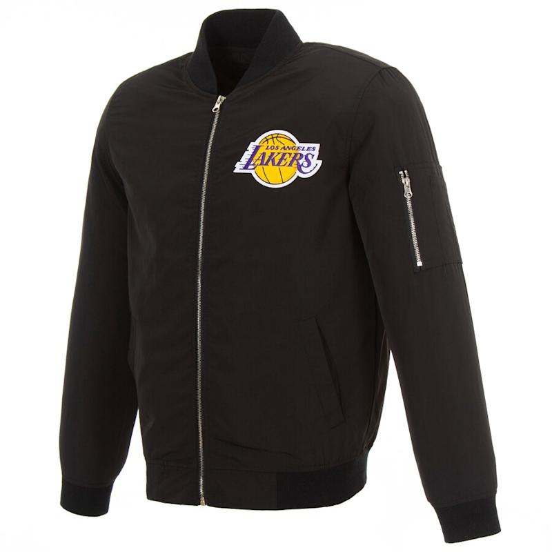 Lakers LeBron James Fanatics Full-Zip Bomber Jacket