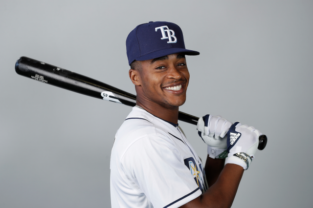 """Come for the <a class=""""link rapid-noclick-resp"""" href=""""/mlb/players/10117/"""" data-ylk=""""slk:Mallex Smith"""">Mallex Smith</a> legs, not (necessarily) for the bat (AP)"""