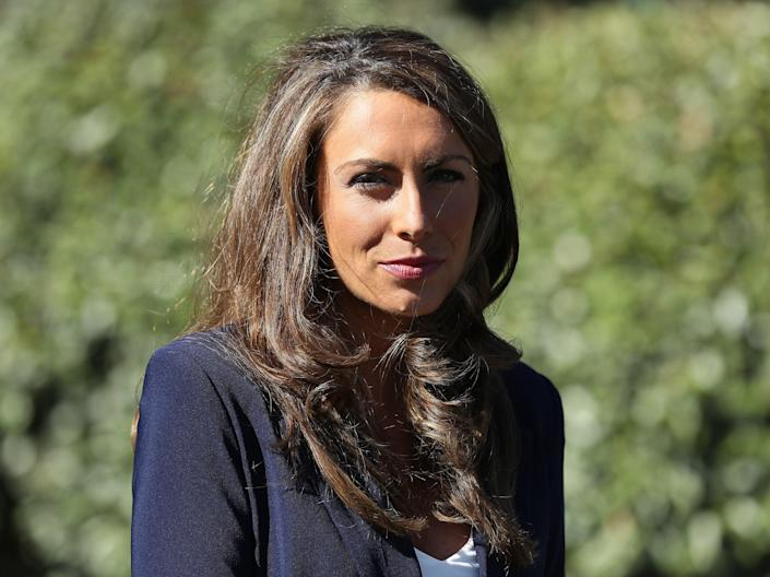 Alyssa Farah talks with reporters outside the West Wing on October 08, 2020 in Washington, DC. (Getty Images)