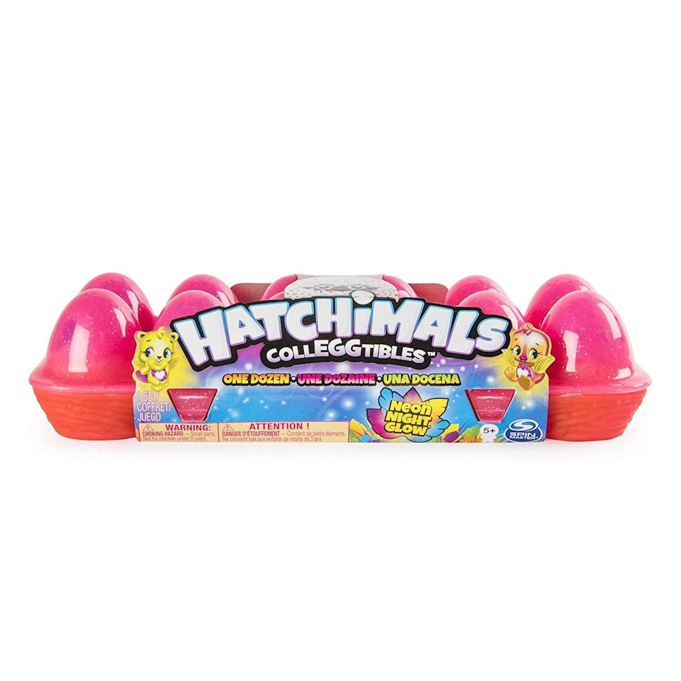 <p>These surprise <span> Hatchimals CollEGGtibles Neon Nightglow 12-Pack Egg Carton </span> ($20) are an Amazon exclusive! They'll want to collect every single one!</p>
