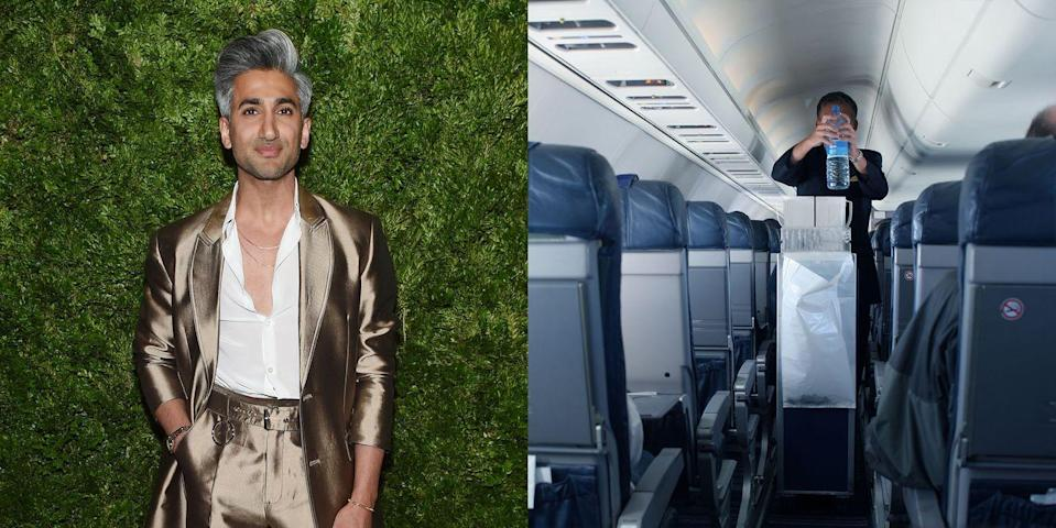 """<p>Before Tan France taught us the French tuck on Netflix's <em>Queer Eye</em>, he was wearing dull uniforms as a flight attendant. He wrote in his book, <em><a href=""""https://www.amazon.com/Naturally-Tan-Memoir-France/dp/1250208661?tag=syn-yahoo-20&ascsubtag=%5Bartid%7C10049.g.19737935%5Bsrc%7Cyahoo-us"""" rel=""""nofollow noopener"""" target=""""_blank"""" data-ylk=""""slk:Naturally Tan"""" class=""""link rapid-noclick-resp"""">Naturally Tan</a></em>, that he only lasted two months, saying that he """"felt like a glorified waiter.""""</p>"""
