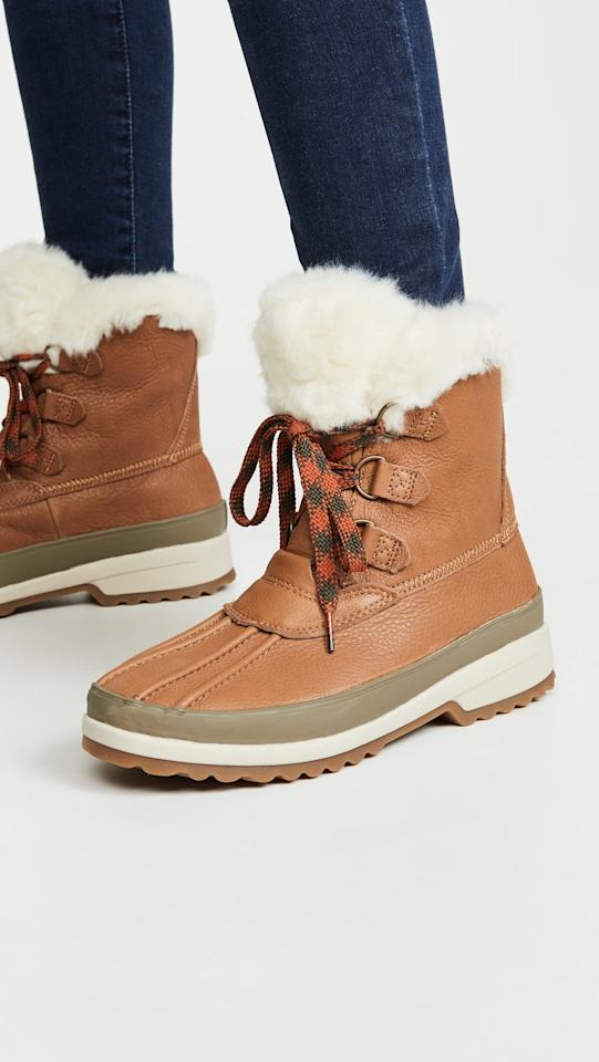"""<p>These cozy <a href=""""https://www.popsugar.com/buy/Sperry-Maritime-Winter-Boots-519435?p_name=Sperry%20Maritime%20Winter%20Boots&retailer=shopbop.com&pid=519435&price=170&evar1=fab%3Auk&evar9=36071390&evar98=https%3A%2F%2Fwww.popsugar.com%2Ffashion%2Fphoto-gallery%2F36071390%2Fimage%2F46913851%2FSperry-Maritime-Winter-Boots&list1=shopping%2Cshoes%2Cboots%2Csorel%2Cwinter%20fashion&prop13=api&pdata=1"""" rel=""""nofollow"""" data-shoppable-link=""""1"""" target=""""_blank"""" class=""""ga-track"""" data-ga-category=""""Related"""" data-ga-label=""""https://www.shopbop.com/maritime-winter-boots-sperry/vp/v=1/1502934408.htm?folderID=13198&amp;fm=other-shopbysize-viewall&amp;os=false&amp;colorId=11841"""" data-ga-action=""""In-Line Links"""">Sperry Maritime Winter Boots</a> ($170) are perfect for all weather conditions.</p>"""