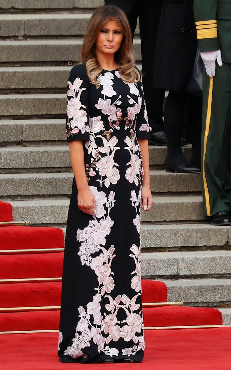 Melania Trump wearing Dolce and Gabbana - REUTERS