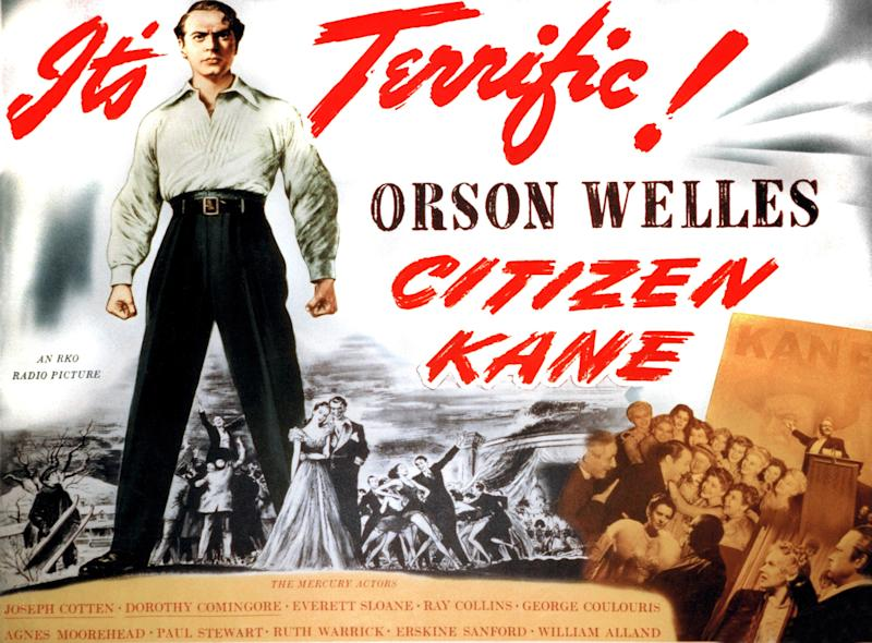 Citizen Kane, poster, Orson Welles, 1941. (Photo by LMPC via Getty Images)