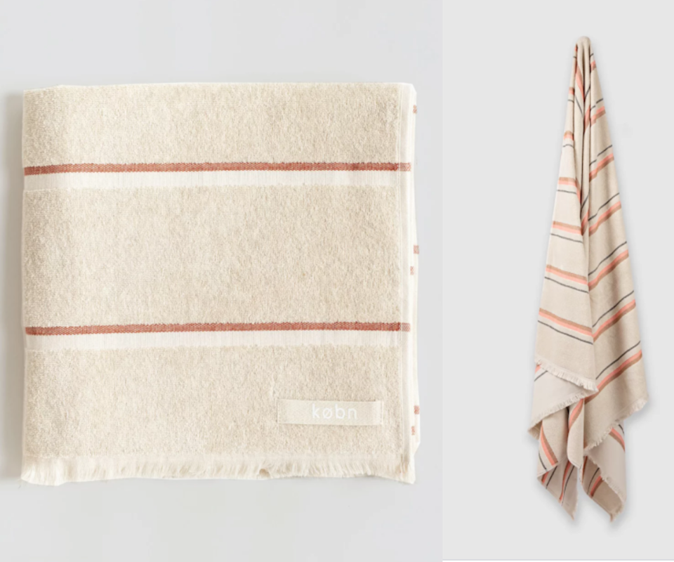 Kobn provide a QR code on their towel tags for customers to trace the origin of the cotton to allow for full sustainability transparency. Source: The Iconic