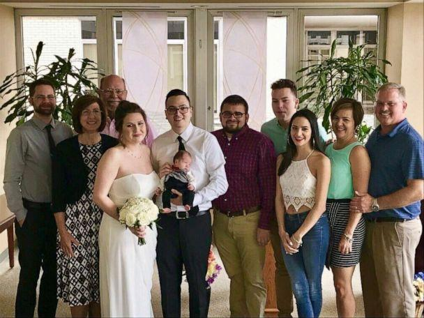 PHOTO: Amanda and Edwin Acevedo and their wedding guests. (WakeMed)