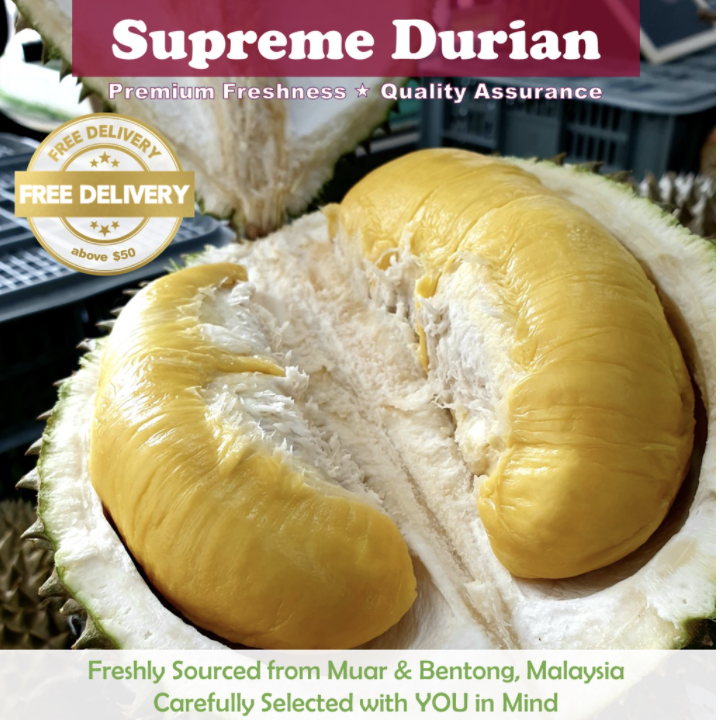 PHOTO: Shopee. [Supreme Durians] Fresh Durian Delivery 400g-700g
