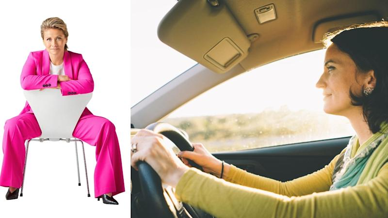 Sam White (left) founded Stella car insurance as a product built by and for women. Images: Supplied, Getty