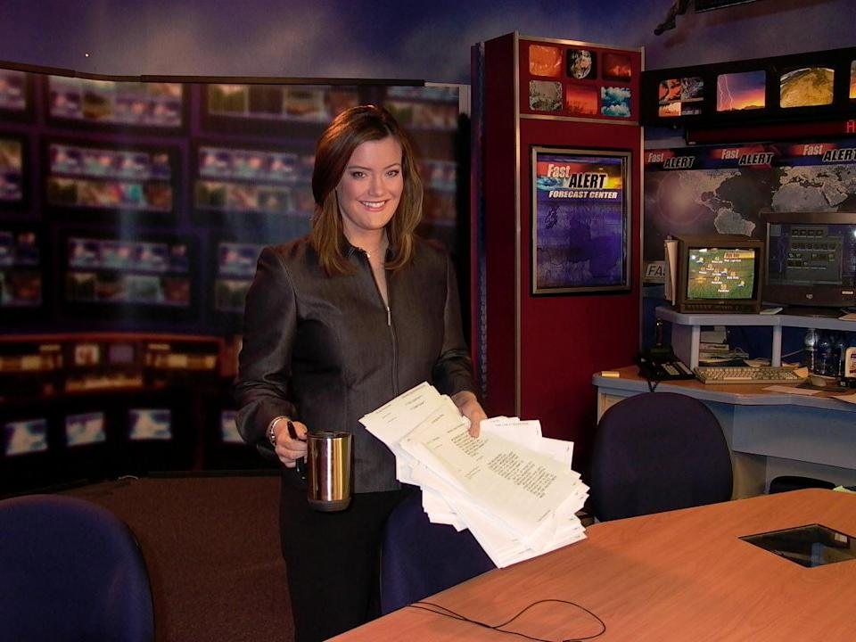 A throwback photo of Jamie Kern Lima during her news anchor days with KNDU TV. (Photo: Courtesy of IT Cosmetics)