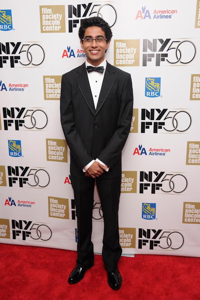 """NEW YORK, NY - SEPTEMBER 28:  Actor Suraj Sharma attends the Opening Night Gala Presentation Of """"Life Of Pi"""" at the 50th New York Film Festival at Alice Tully Hall on September 28, 2012 in New York City.  (Photo by Jamie McCarthy/Getty Images)"""