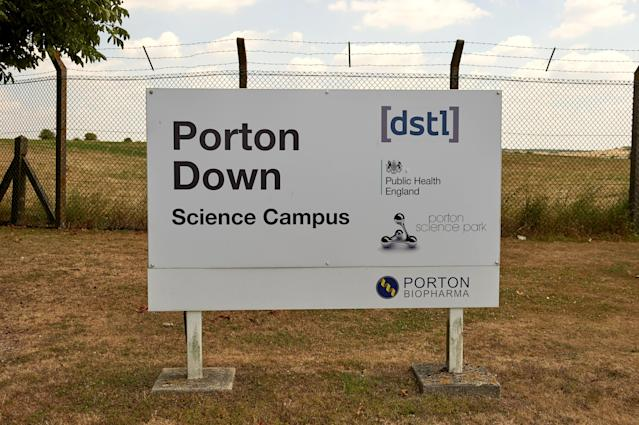 Porton Down, the science park housing the Ministry of Defence's (MOD) Defence Science and Technology Laboratory (Picture: Getty)