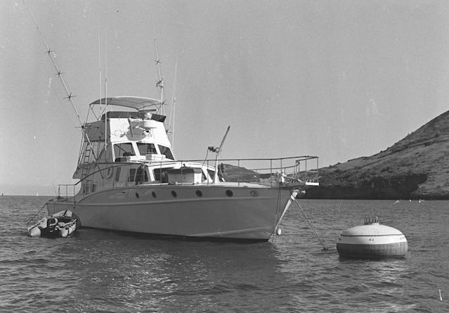 The Splendour, the yacht where Natalie Wood was last seen alive before drowning. (Photo: Getty Images).