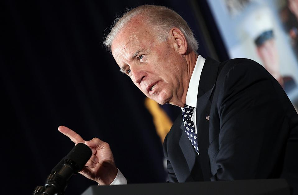 In 2012, Vice President Joe Biden spoke at the 18th annual Tragedy Assistance Program for Survivors (TAPS) Seminar, which helps families who have lost a relative through military service. (Photo: Win McNamee/Getty Images)