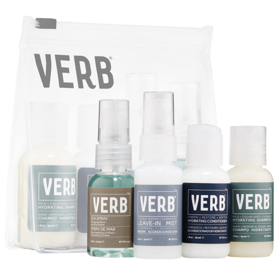 """<p><a href=""""http://www.verbproducts.com/"""" rel=""""nofollow noopener"""" target=""""_blank"""" data-ylk=""""slk:Verb"""" class=""""link rapid-noclick-resp"""">Verb </a>is offering free shipping on Cyber Monday for any purchase over $42 and a free adorable pouch with any purchase.<br></p>"""