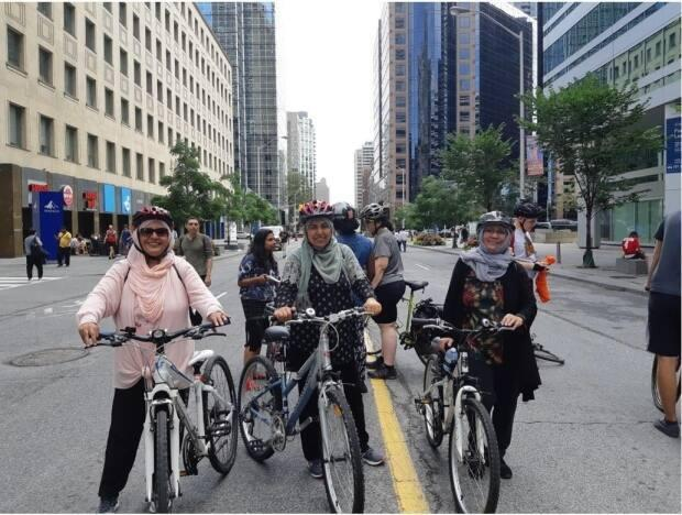 The Women's Cycling network is an inclusive group that advocates for easy access to biking for women in Toronto and the GTA. (Najia Zewari - image credit)