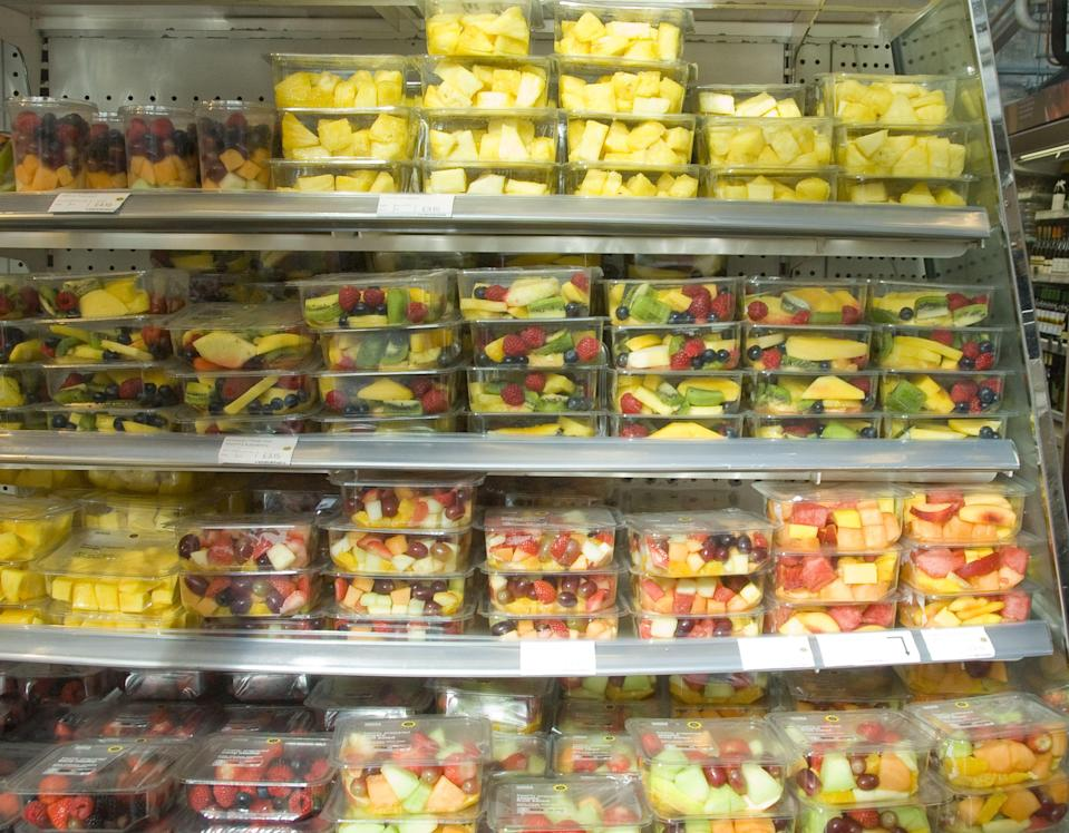 The supermarket plans to eliminate most of this plastic packaging within three years. Photo: David Pearson/REX/Shutterstock