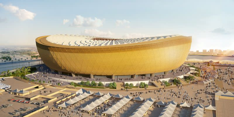 FILE PHOTO: A computer generated image of Lusail Stadium that will host the 2022 FIFA World Cup final