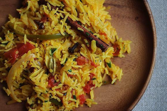 """<div class=""""caption-credit""""> Photo by: Sarah Shatz</div><div class=""""caption-title"""">Tomato Rice</div>We are in love with pauljoseph's Tomato Rice -- it's loaded with aromatics and layers of heat but so easily made for a simple side or lunch. - A&M <br> <i><b><a rel=""""nofollow noopener"""" href=""""http://www.food52.com/recipes/7491_tomato_rice_tamatar_biryani"""" target=""""_blank"""" data-ylk=""""slk:Get the recipe"""" class=""""link rapid-noclick-resp"""">Get the recipe</a></b>.</i>"""