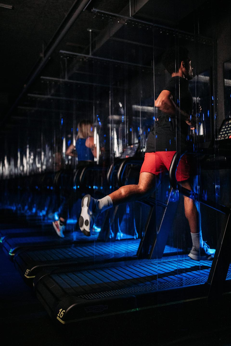 1Rebel's treadmills will be divided by clear screens.