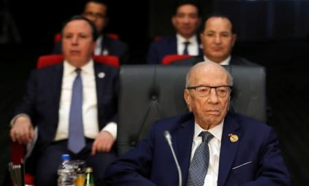 FILE PHOTO: Tunisian President Beji Caid Essebsi attends Arab league and EU summit, in Sharm el-Sheikh