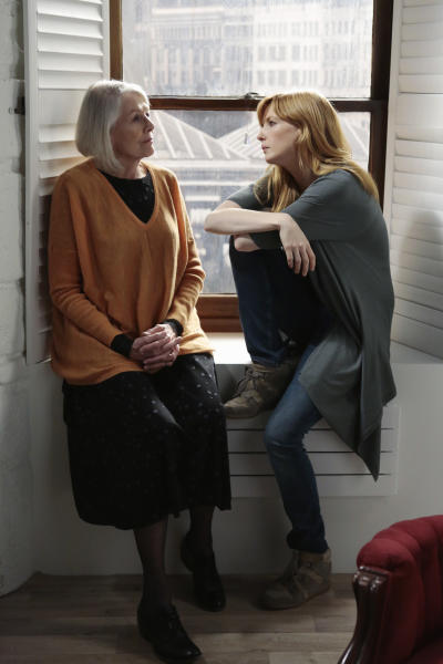 """This image released by ABC shows Vanessa Redgrave, left, and Kelly Reilly in a scene from the new medical drama """"Black Box,"""" premiering Thursday at 10 p.m. EDT on ABC. (AP Photo/ABC, Giovanni Rufino)"""