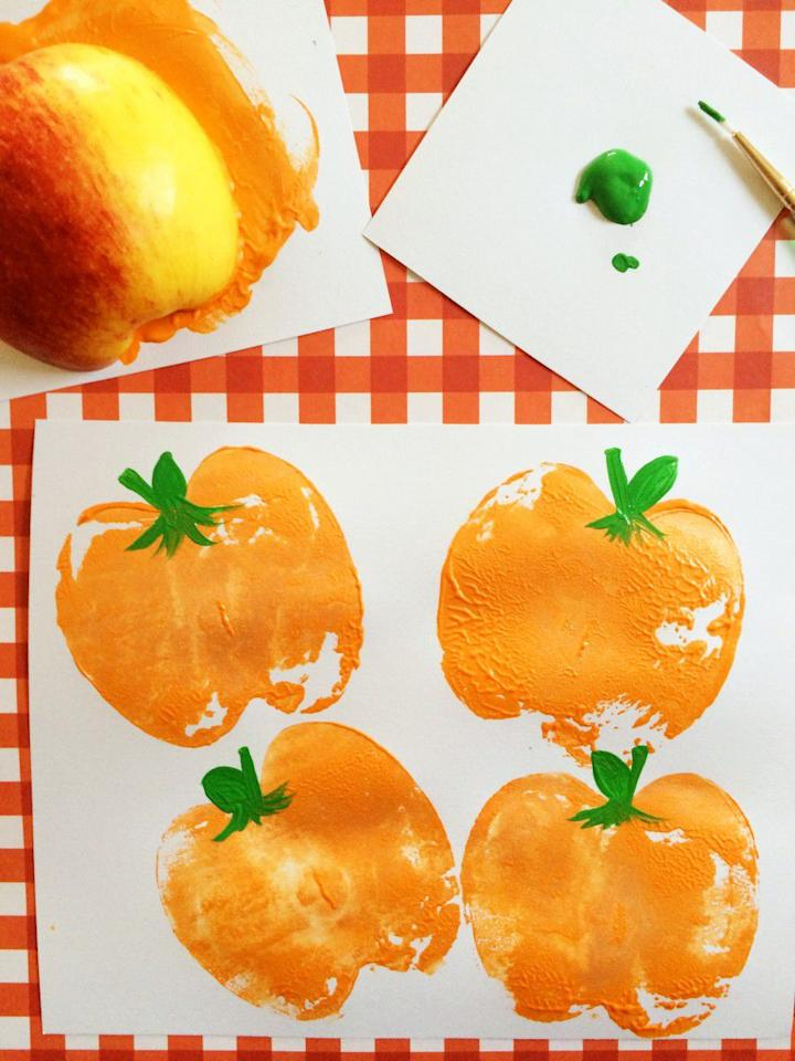 "<p>These simple pumpkin shapes are (wait for it) made from cut apples dipped in paint. Use these DIY stamps to decorate cards or other decor this fall.</p><p><strong>Get the tutorial at <a rel=""nofollow"" href=""http://www.frugalmomeh.com/2015/09/pumpkin-apple-stamps.html#_a5y_p=5790936"">Frugal Mom Eh</a>. </strong><br></p><p><strong>RELATED:</strong> <a rel=""nofollow"" href=""https://www.womansday.com/food-recipes/food-drinks/g2554/fall-dinner-ideas/"">Fall Dinner Ideas for When You're Craving Something Comforting</a></p>"