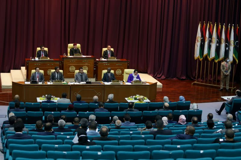 Libyan Parliament meet to discuss approving new government, in Sirte