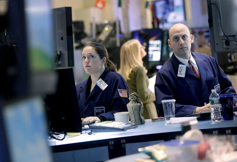 Stocks sink, pulling S&P 500 down from 5-year high