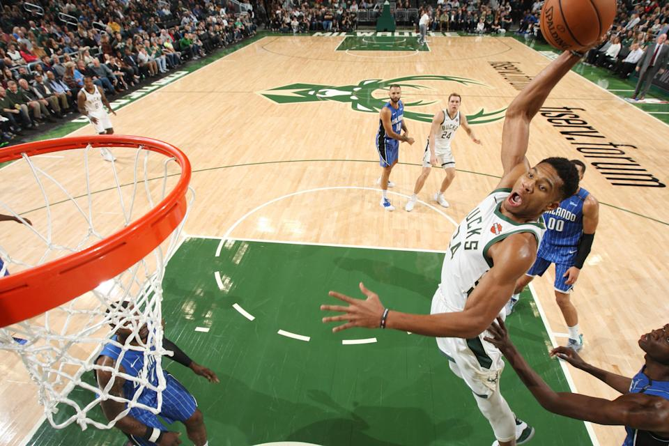 Giannis Antetokounmpo has guided the Milwaukee Bucks to the best record in the NBA and, shockingly, into a destination for top free agents. (Getty)