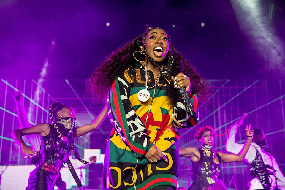 Missy Elliott performs at the 2018 Essence Festival at the Mercedes-Benz Superdome on Saturday, July 7, 2018, in New Orleans. (Photo by Amy Harris/Invision/AP) ORG XMIT: LABB110