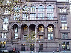 The front of the Cooper Union Foundation Build...