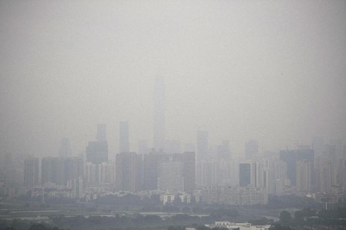 """Premier Li Keqiang last year declared """"war"""" on pollution, with major cities such as Shenzhen frequently suffering poor air quality (AFP Photo/Fred Dufour )"""