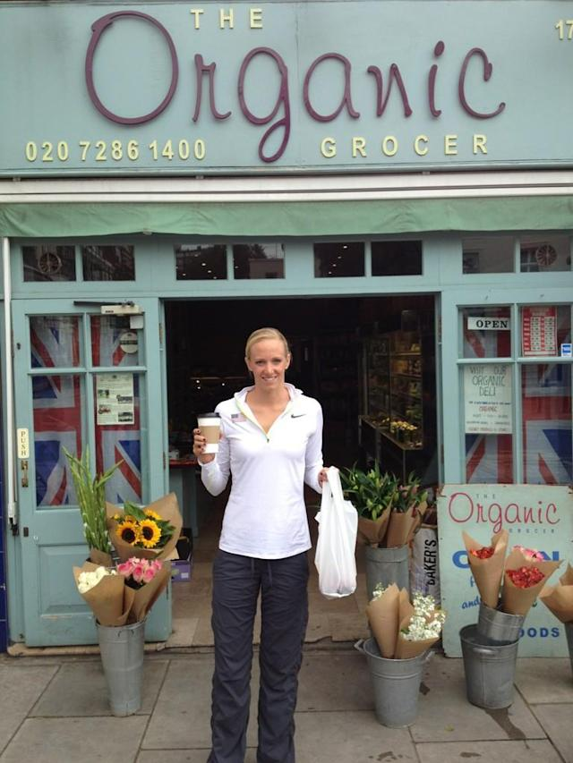 Found a super cute organic grocery near our flat in London! Nice to grab some new #GF snacks! #fb @danavollmer