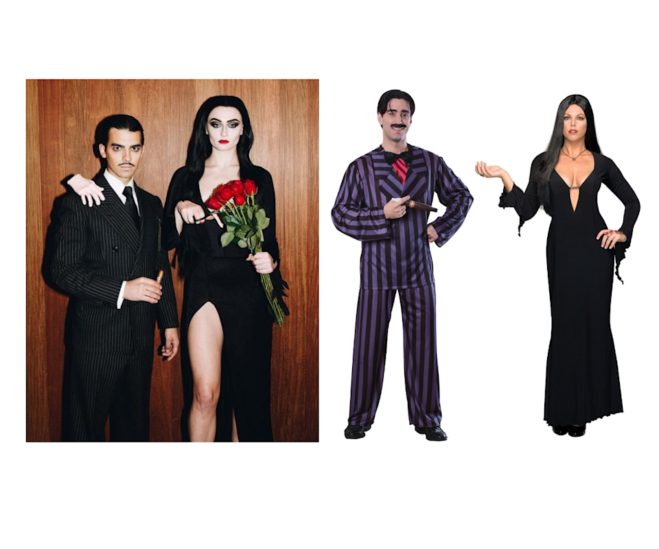 The Addams Family Morticia and Gomez Adult Costumes. Photo: Instagram/constumes.com.au