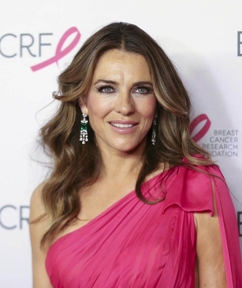 Actress Elizabeth Hurley attends the Breast Cancer Research Foundation's 2019 Hot Pink Party