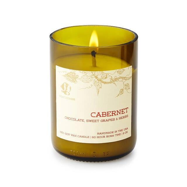 <p>This Cabernet <span>Wine Candle</span> ($24) is eco-friendly and packaged in an upcycled wine bottle. How cool?</p>