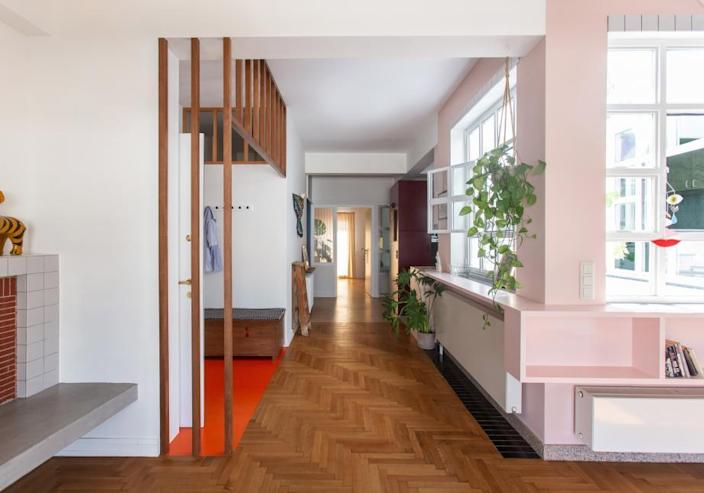 Main hallway in a Point Supreme-renovated Athens multi-family apartment.
