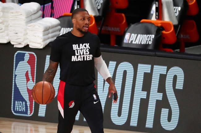 Blazers' Lillard out for Game 5 with a sprained right knee