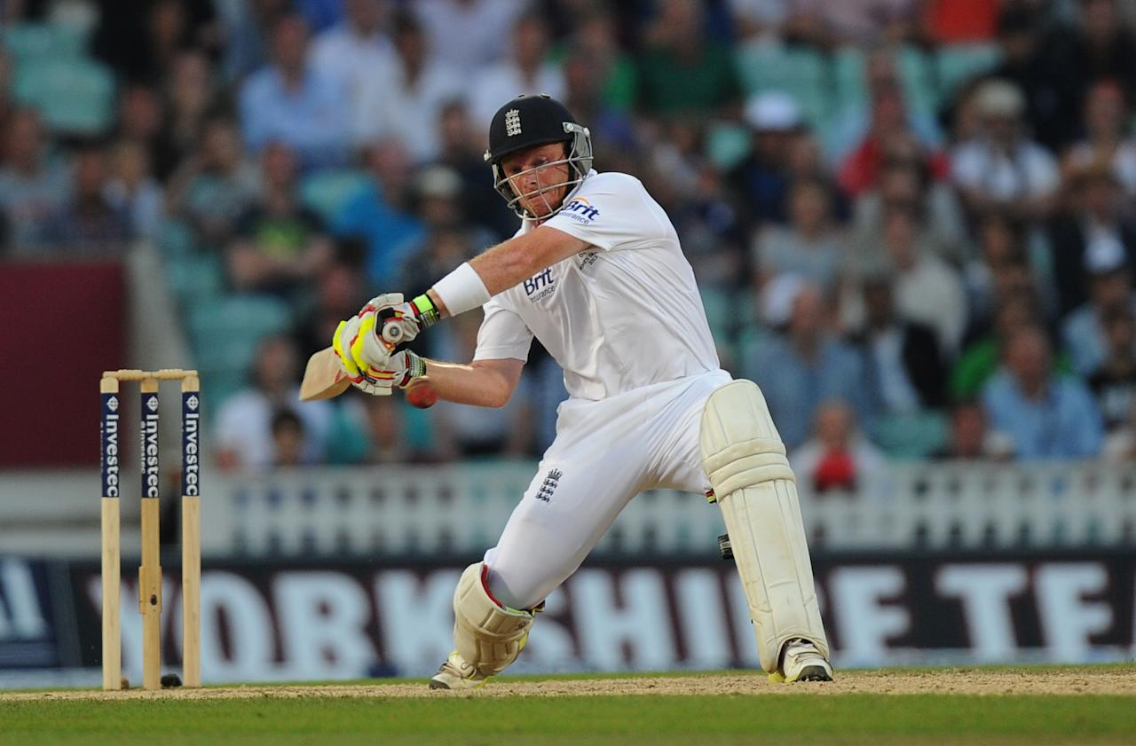 England's Ian Bell bats during day five of the Fifth Investec Ashes Test match at The Kia Oval, London.