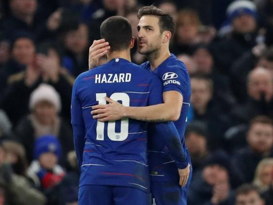 Hazard paid tribute to departing Chelsea teammate Fabregas (Action Images via Reuters)