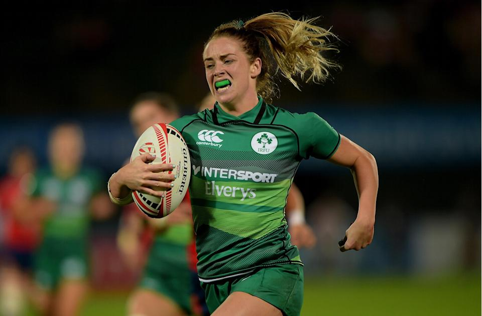 <p>Ireland's Stacey Flood has experience of the World Sevens Series circuit</p> (Getty Images)