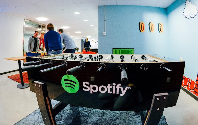 Spotify has employees play table football and video games at their leisure and exchange ideas that are as fruitful as they are proprietary (AFP Photo/Jonathan Nackstrand)