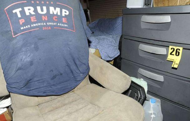 PHOTO: Defense filings in the case of Cesar Sayoc, who pleaded guilty to mailing pipe bombs to several Democrats, included photos of his van filled with Trump memorabilia. (Handout)