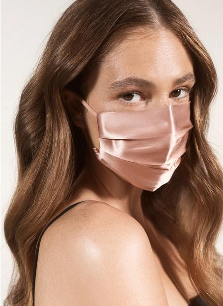 Pure Silk Adult Pleated Face Covering. Image via Nordstrom