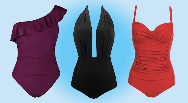 These are among the most flattering swimsuits onn Amazon, according to reviewers. (Photo: Amazon)